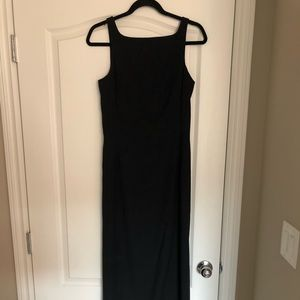 Black column Nicole Miller gown